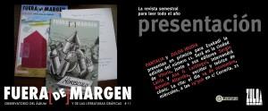 Presentación de la revista «Fuera [de] Margen» en Zuloa