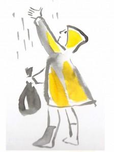 Ilustratzaileen txokoa:trabajos de Asun Balzola en Aiete