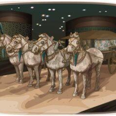 Ilustración para La tumba del emperador tigre de Patricia Pérez Redondo